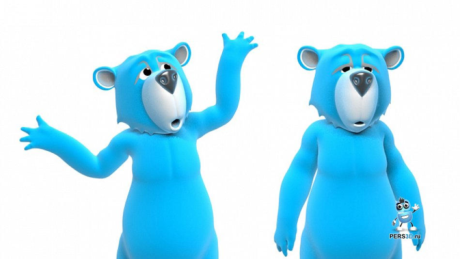 3D модель медведя для секонд-хенда