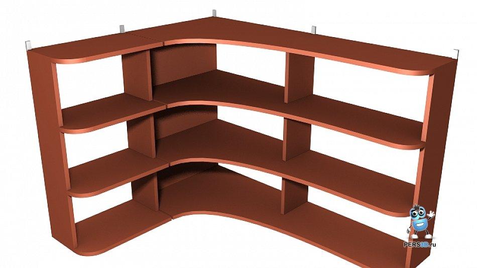 3d визуализация угловой полки