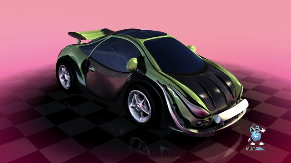 3d модель машины - ракурс 1
