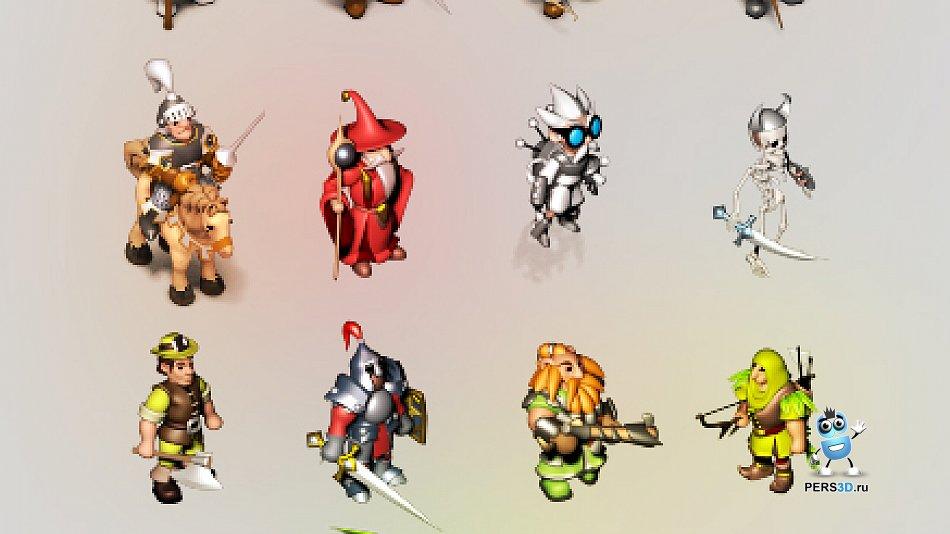 Примеры спрайтовых 3d персонажей