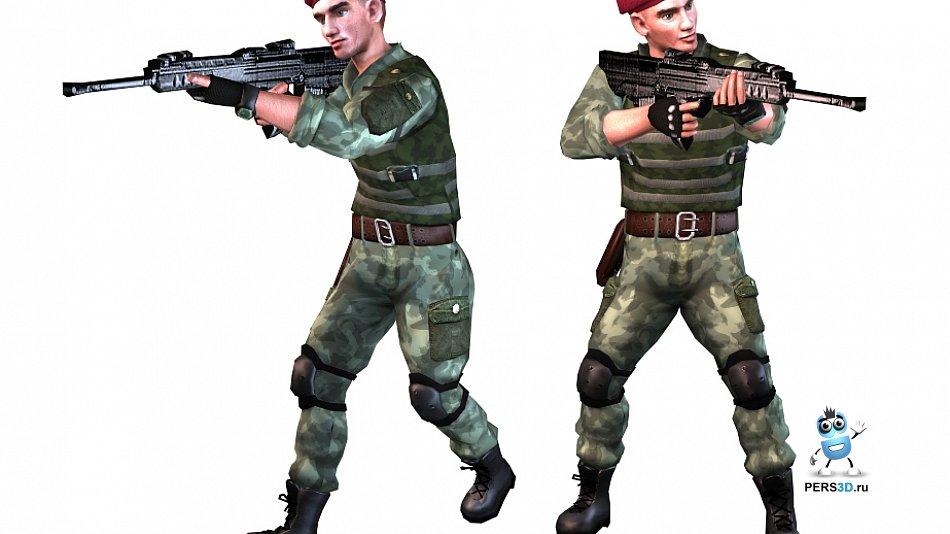 3d модель десантника для игры