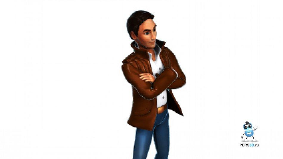 Спрайтовый персонаж - детектив