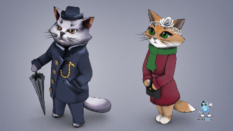 Спрайтовые коты для детективной игры.