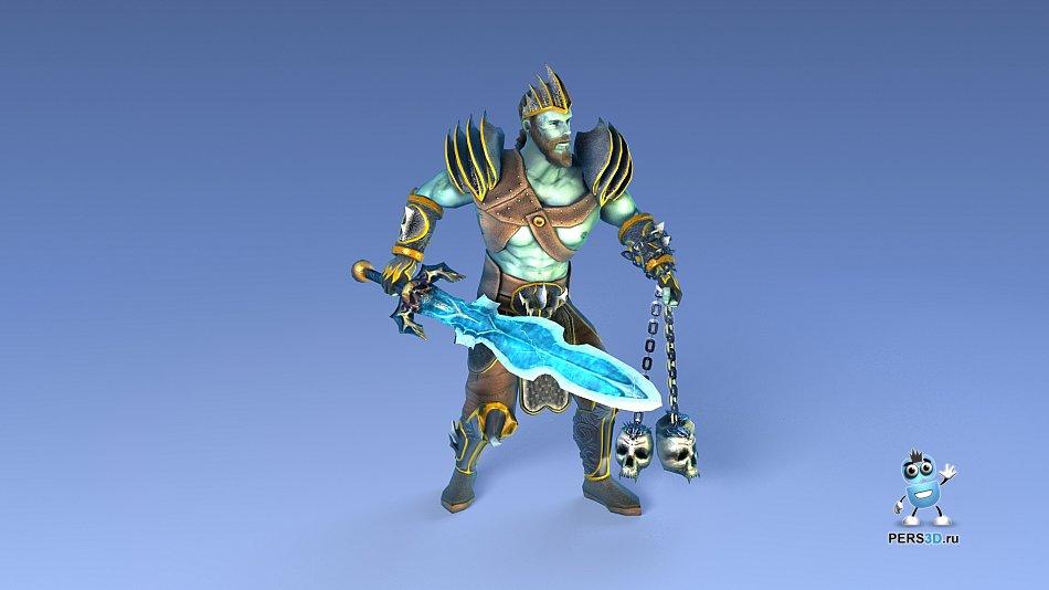 Пример персонажа для прототипа DOTA-образной игры - 11к треугольников