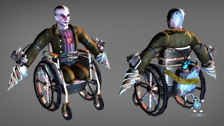 3d модель инвалида