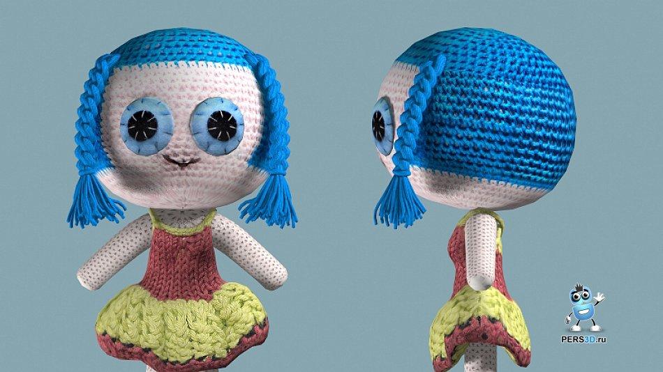 3d модель вязанной куклы
