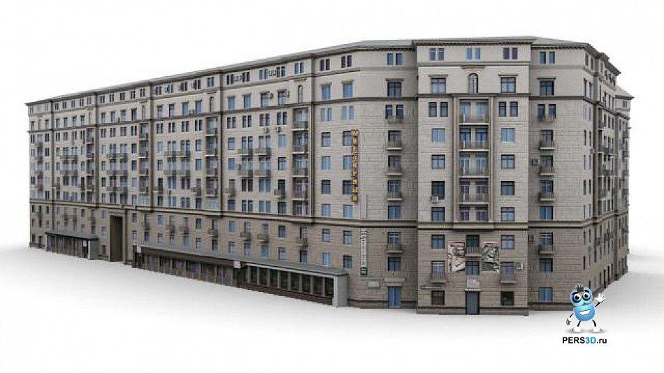 3d модель дома по адресу Ленинский 13 - 2
