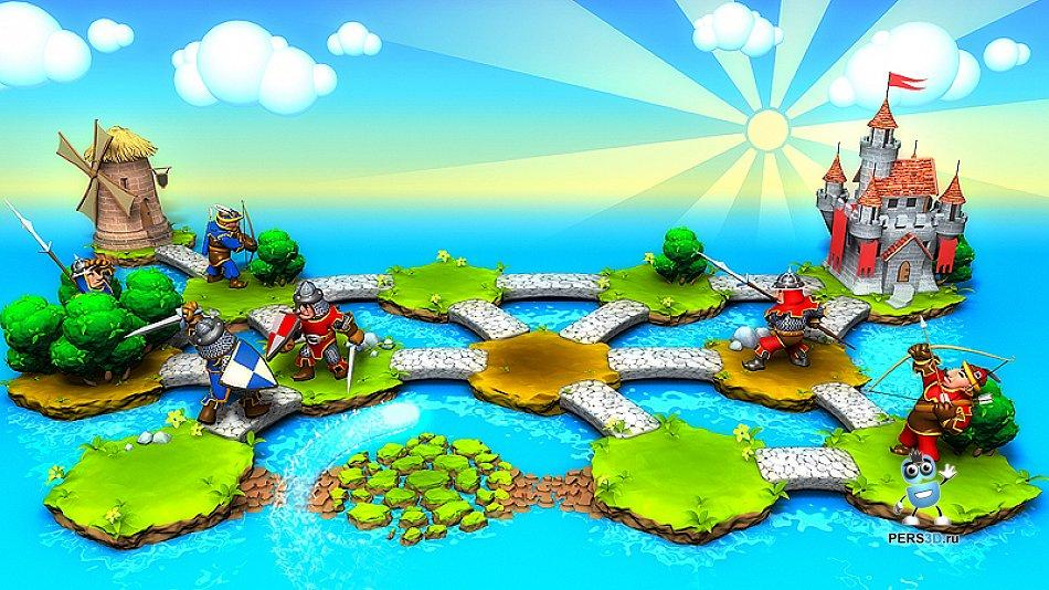 изображение загрузочного экрана игры Hexland Tales