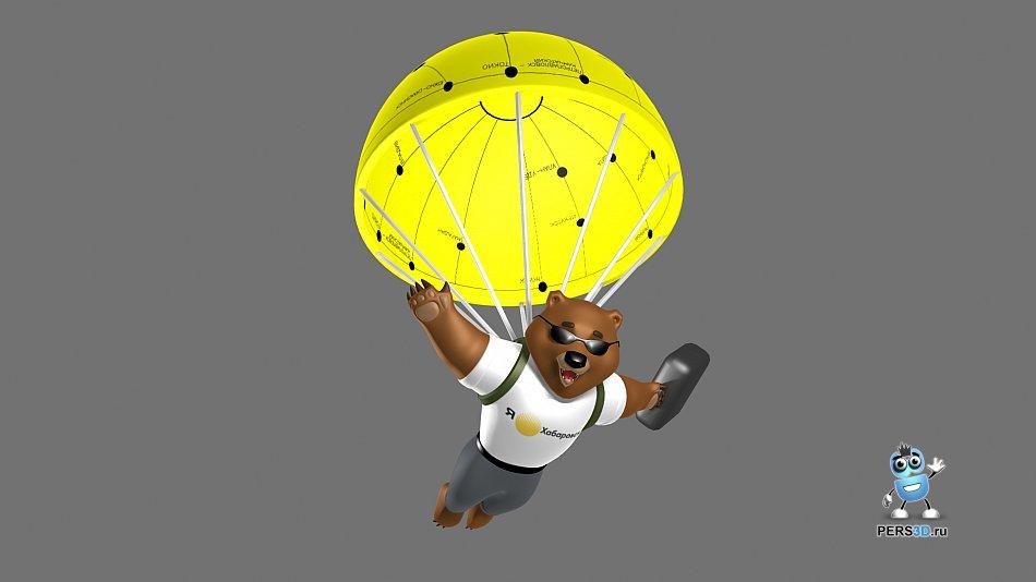 3D модель медведя для хабаровского аэропорта - ракурс 1