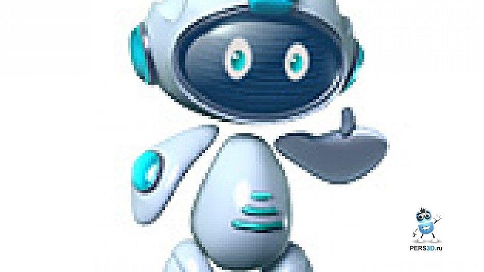 3d персонаж робот-спутник