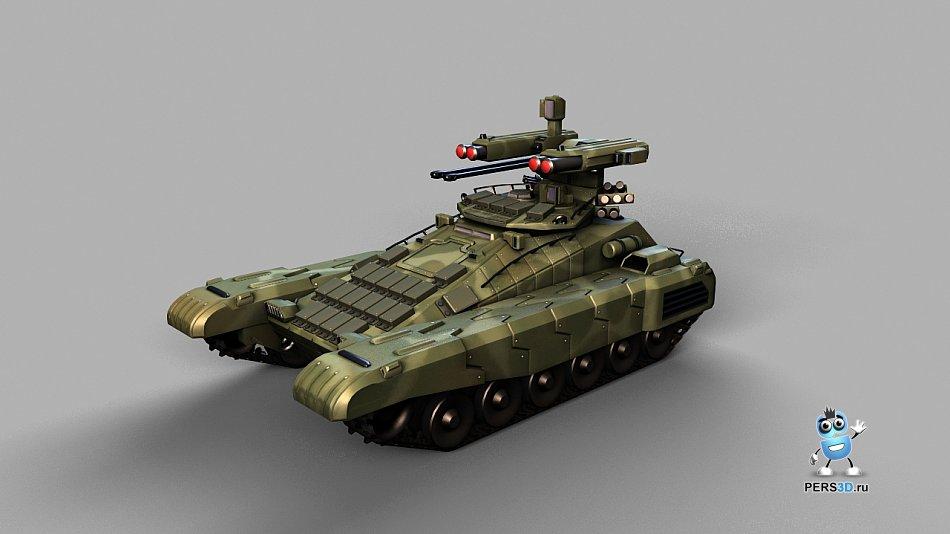 3d модель танка - вариант 1